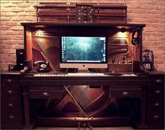 From old piano to a working corner.