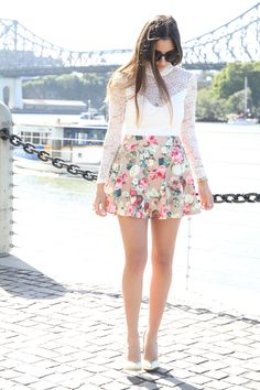 High waisted floral! perfect for #summer #DefineMyStyle #SummerOfStyle