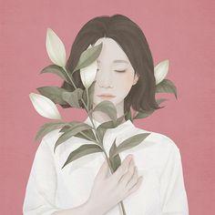 I ritratti floreali di Choi Mi kyung | PICAME