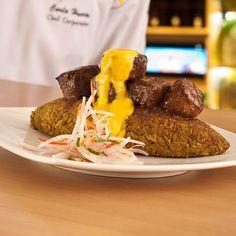 Peruvian Tacu Tacu Recipe. Find more Peruvian recipes at http://www.perualacarte.com