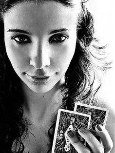 """""""Poker Face"""" by Anna Theodora, Londrina // Inspired by music., One of my favorite self-portraits // Imagekind.com -- Buy stunning, museum-quality fine art prints, framed prints, and canvas prints directly from independent working artists and photographers."""