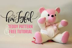 Learn how to make this adorable bear out of fleece or your favorite keepsake to turn in into a memory bear! In the blog via @howjoyful - HowJoyful Bear pattern
