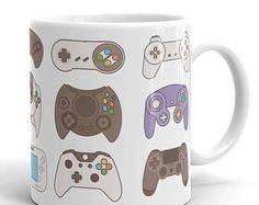Video Game Controller Mug, Xbox One Mug, Father's Day Gift, Nintendo, Man Cave, Gift For Him, Gamer Mug, Gamer Gifts, Nerd Mug, Geek Gifts