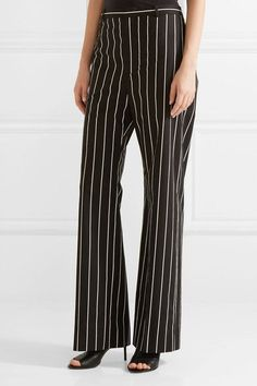 Balenciaga - Striped Cotton-poplin Straight-leg Pants - Black - FR
