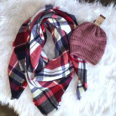 Blanket Scarf and Cc Beanie set for $30