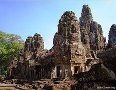 Bayon Temple. Angkor Complex, Siem Reap, Cambodia. www.victortravelblog.com/2013/08/26/cambodian-siem-reap-temple-klondike/#more-5763