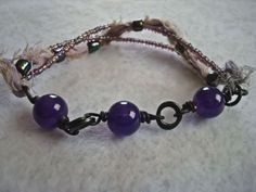 Mardi Gras Collection I Got Beads bracelet by MicheladasMusings, $15.00