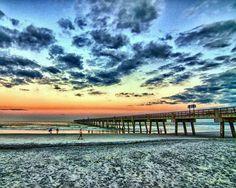 Sunset at Jacksonville Beach Florida. Lived two blocks from the beach. Jacksonville Florida, Us Beaches, Florida Beaches, Florida Vacation, Vacation Places, Visit Tour, I Love The Beach, Most Beautiful Beaches, Daytona Beach