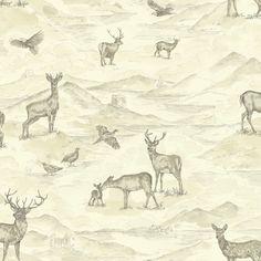 Bancroft by Arthouse - Cream - Wallpaper : Wallpaper Direct Hirsch Wallpaper, Stag Wallpaper, Cream Wallpaper, Embossed Wallpaper, Wallpaper Panels, Textured Wallpaper, Wallpaper Roll, Countryside Wallpaper, Wall Candy