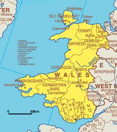 Map Of Wales Uk.16 Awesome Maps Of Wales Images England Wales Map British Isles
