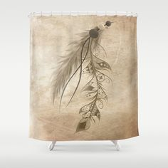 Bohemian Feather Shower Curtain by LouJah - $68.00