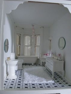 Shabby Chic bathroom.:
