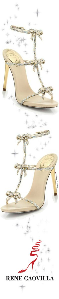 Glass Slippers for the Modern Day Cinderella | thezoereport​  Rene Caovilla | SS 2015 | cynthia reccord