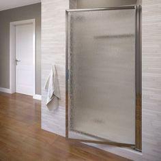 """Basco Deluxe 67"""" x 22.5"""" Pivot Framed Single Swing Shower Door"""