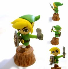 The Wind Waker Link, fan made clay figure by vrlovecats. #DIY