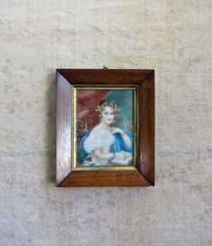 c. 1820 Georgian French Painting 200 Year Old Regency
