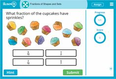 """Who doesn't love cupcakes! Check out this new """"Fractions of Sets"""" lesson for 5th grade on Iknowit.com. Try it for free today!"""