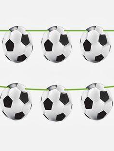Leuke verjaardag slingers voor een voetbal feestje.