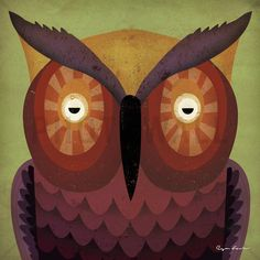 Ryan Fowler - Owl - Decoration Murale & Papier Peint Photo - Photowall