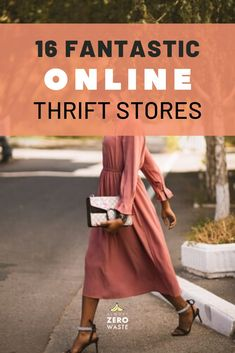 Shopping second hand online has plenty of benefits. Find 16 great online thrift stores for buying affordable & zero waste second-hand clothes! Sustainable Clothing, Sustainable Fashion, Sustainable Style, Sustainable Living, Second Hand Shop, Second Hand Clothes, Slow Fashion, Ethical Fashion, Best Online Thrift Stores