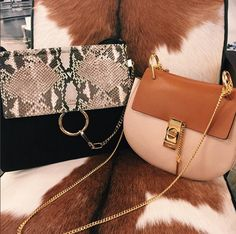 'Faye' python bag and the 'Drew' cross body from Chloé