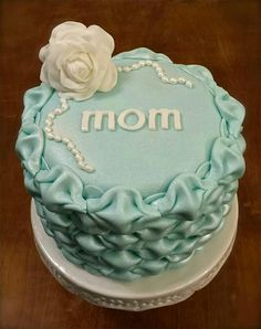 Billowed Fondant Mother's Day Cake (with tutorial)