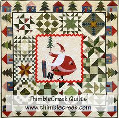 Santa's Village quilt pattern at ThimbleCreek Quilt Shop