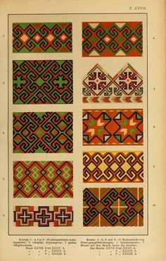 Mordvalaisten pukuja kuoseja (1896). A book of traditional Mordvin costume patterns (Russia)
