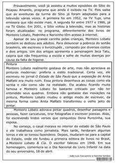 SOS PROFESSOR-ATIVIDADES: O maior escritor de livros infantis que o Brasil já teve.