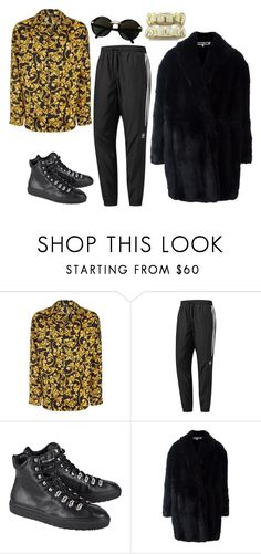 """""""Untitled #1875"""" by fashioncitizen on Polyvore featuring Versace, adidas, Dsquared2, Alexander McQueen, Cartier, men's fashion and menswear"""