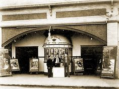 Oregon Theater advertises its presentation of Shorty and Sherlock Holmes (1914). - 3530 SE Division Street Portland, Oregon