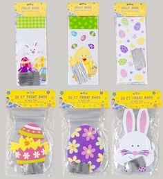 Easter Cello Loot Bags with Twist Ties-6 Assorted Designs-25 Count #Easter