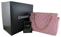 Chanel Purple Pink Lambskin Petite Timeless Shopping Tote PTT Bag