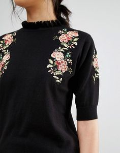 Oasis | Oasis Embroidered Frill Knit jumper