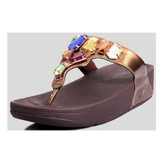 35603595df91 Womens Fitflop Diamante Stylish Brown Sandals ❤ liked on Polyvore featuring  shoes