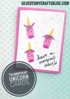Thumbprint Unicorn Card