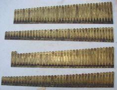 146 Brass Reeds From Clough And Warren Pump Organ Antique Parts Crafts Repurpose