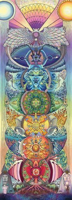 Los centros de energía, transformación y vida. HOY en día vivo los comienzos de mi CHAKRA CORAZÓN, más bien la era del Timo.// The Chakras, Enlightenment; Waking Life