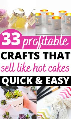 Looking for easy craft ideas that you can make and sell for profit? Here's a list of 32 crafts that make money in 2021! Learn to make money from crafting! Diy Projects You Can Sell, Diy Money Making Crafts, Easy Crafts To Sell, Sell Diy, Crafts For Kids To Make, Diy Craft Projects, Simple Crafts, Craft Ideas, Kids Crafts