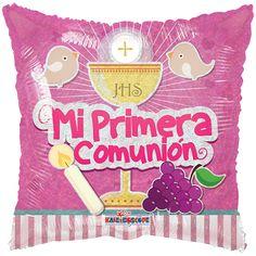 Contamos con nuevos estilos de #Globos Metálicos de #Primera #Comunión!!