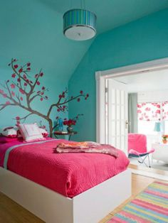 UpotrePink  turquise bedroom
