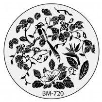 Bundle Monster Nail Stamping Plate 2015 Secret Garden Collection - BM720: Feathery Lullabies