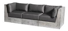 cement outdoor sofa - Google Search
