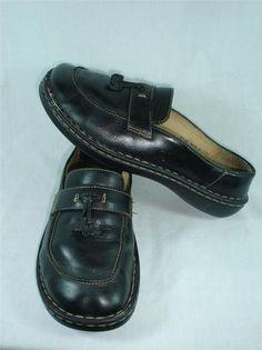 Born Womens Ladies Slip on Black Size 8 5 40 M w Tassle Comfortable   eBay