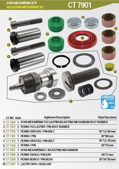 Continual Brake Caliper Repair Kits For Truck Bus and Van: yes, Fashion Catalog :)))