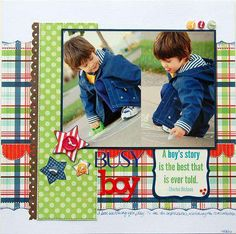 Scrapbook page - love the colors
