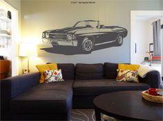 1971 Chevrolet Chevelle SS Convertible - Wall Art Sticker #BeInspiredWallArt #VintageRetro