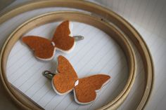 Fall Butterfly hair Clip set Pumpkin di PaperdollAccessories