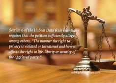 Matters To Be Alleged In A Petition For Writ Of Habeas Data | Prohealthlaw