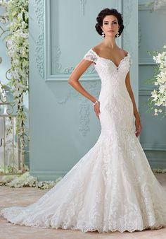 Robe De Mariage : Off the shoulder wedding dress | David Tutera 116201 | trib.al/zDmDqAq...